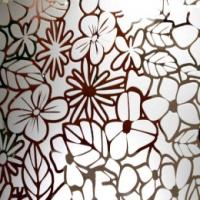 Зеркало Цветы 4мм 2550*1605мм
