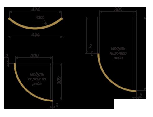 Техническая документация для радиусных фасадов